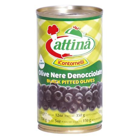 Attina' olive nere denocciolate gr 4250 vaso