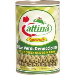 Attina' olive verdi latta denocciolate gr 4250