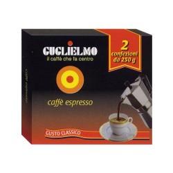 Caffè Espresso Guglielmo bi-pack 2x250 gr