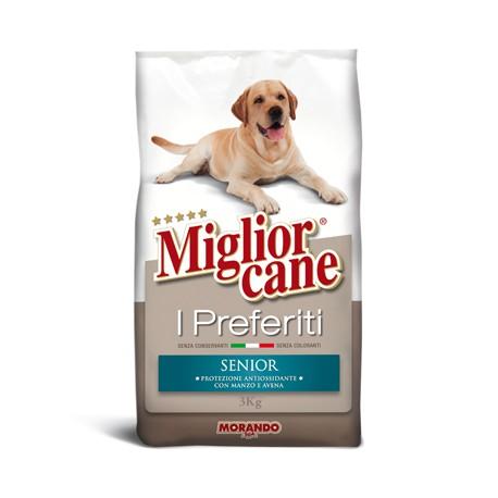 Miglior cane senior manzo e avena secco kg 3