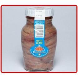 """Filetti di alici """"Anfora"""" Original Vasetto di vetro da 160 gr."""
