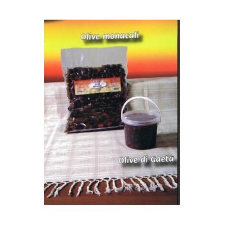 Olive monacali vaschetta gr. 500