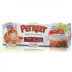 Petreet bocconi gatto tonno granchio  gr 80x3