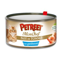 Petreet bocconi gatto tonno gamberi gr 80 x 3