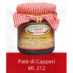 PATE' DI CAPPERI Vasetto ml.212